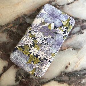 New Lulu Floral Sequins Snap Wallet